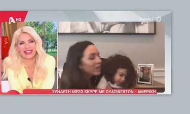 Ελένη Μενεγάκη: Ξετρελάθηκε με την κόρη της Καλομοίρας!
