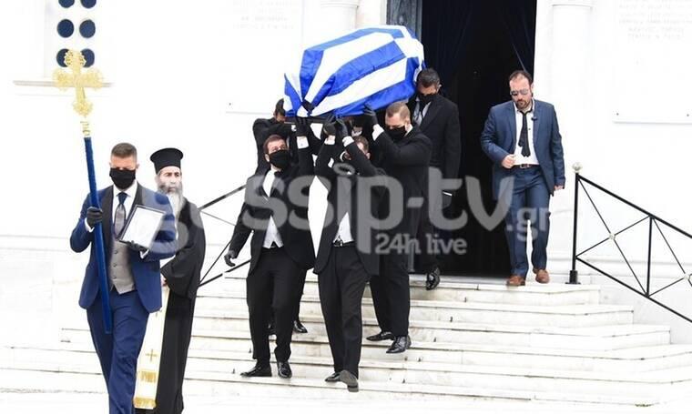 Μανώλης Γλέζος: Θλίψη στην κηδεία του μεγάλου αγωνιστή (Photos)