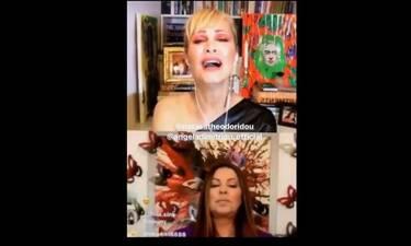 Άντζελα Δημητρίου - Νατάσα Θεοδωρίδου: Έριξαν το Instagram με το live τους! (Video)