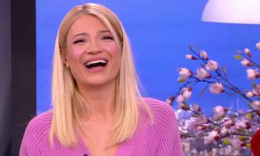 Η Φαίη Σκορδά μπερδεύτηκε και έκανε σαρδάμ με το όνομα του συντρόφου της on air (photos-video)