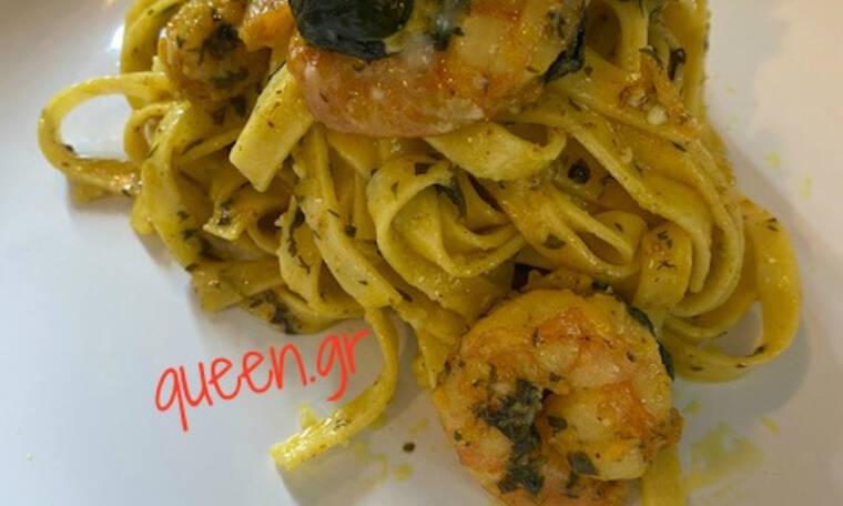 Ταλιατέλες λεμονάτες με σπανάκι, γαρίδες και διάφορα μπαχαρικά (Γράφει αποκλειστικά στο Queen.gr η Majenco)