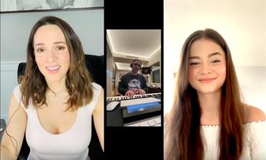 Η Καλομοίρα και η Stefania συναντήθηκαν διαδικτυακά για μια μοναδική live διασκευή της Eurovision