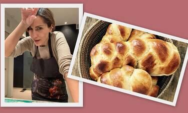 Δέσποινα Βανδή: Μετά τα κουλουράκια ήρθε και η συνταγή για μυρωδάτο Πασχαλινό τσουρέκι (Photos)