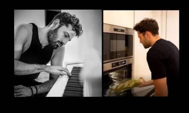 Κωνσταντίνος Αργυρός: Μπήκε στην κουζίνα και μαγείρεψε με τα χεράκια του! (Video)