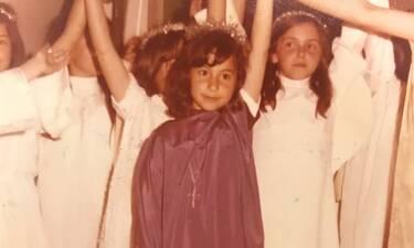 Γνωστή Ελληνίδα δημοσίευσε φωτό από την παιδική της ηλικία και είναι αγνώριστη! (Photos)
