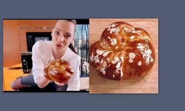 Υβόννη Μπόσνιακ: Έδωσε την καλύτερη συνταγή για τσουρέκια (Video)