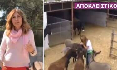 Στέλλα Γεωργιάδου: Δείτε εικόνες από τη φάρμα της στην Κύπρο! (Video)
