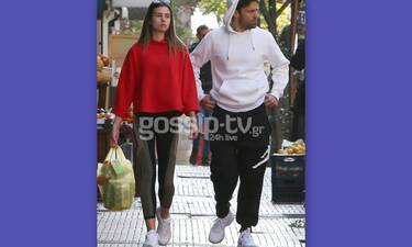 Κωνσταντίνος Αργυρός:  Μετακίνηση 6 με τη σύντροφό του – Το αθλητικό look και τα ψώνια