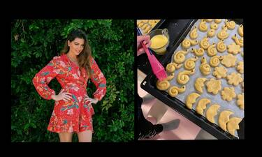Σταματίνα Τσιμτσιλή: Μπήκε στην κουζίνα με τα παιδιά της και έφτιαξαν κουλουράκια (Photos)