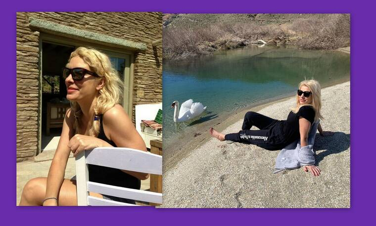 Ελένη Μενεγάκη: Έχεις δει τις αγαπημένες γωνιές της στον παράδεισό της, στα Άχλα; (Photos)