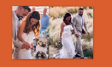 Λασκαράκη - Σουλτάτος: Δημοσίευσαν αδημοσίευτες φώτο από τον γάμο τους στην πρώτη τους επέτειο