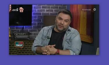 Γρηγόρης Αρναούτογλου: Αποκάλυψε ότι το Live Tonight ρίχνει αυλαία! (Video)
