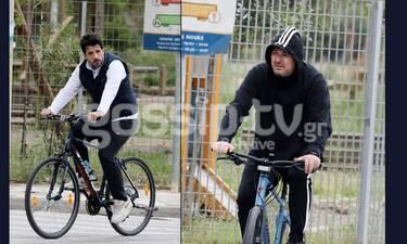 Αντώνης Ρέμος-Θοδωρής Φέρρης: Πήραν τα ποδήλατα και ξεχύθηκαν στη Γλυφάδα