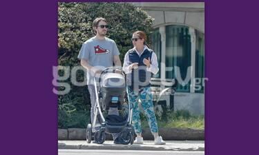 Κατσίμης – Κουτζούκου: Η βόλτα του γιου της Έλλης Στάη με το τριών μηνών μωρό!