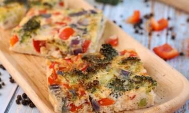 Ομελέτα φούρνου με λαχανικά- Νόστιμη και γρήγορη συνταγή