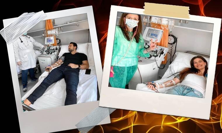 Μπόμπα-Τανιμανίδης: Έδωσαν πλάσμα για να βοηθήσουν ασθενείς με κορονοϊό! (photos+video)