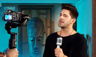 Γιώργος Λιβάνης: Backstage φωτογραφίες από το νέο του videoclip - Η διασκευή που θα γίνει hit (vid)