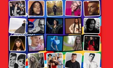 Eurovision 2020: Αυτά είναι τα τραγούδια που προβλήθηκαν στον Α' Ημιτελικό του Europe shine a Light