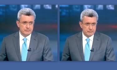 Λύγισε ο Νίκος Χατζηνικολάου στο δελτίο ειδήσεων - Τι συνέβη; (Photos-Video)