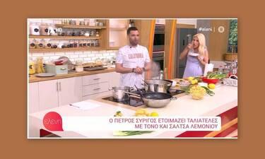 Ελένη Μενεγάκη: «Τα έχασε» ο συνεργάτης της – «Καθάρισε» σε χρόνο dt  ένα πιάτο μακαρόνια!