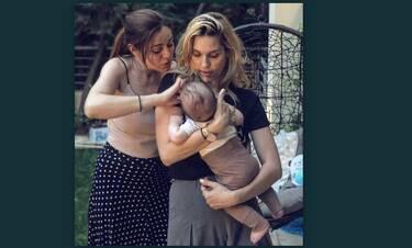 Μαντώ Γαστεράτου: Ξέγνοιαστες στιγμές με τον 4 μηνών γιο της και την φίλη της, Μπάγια Αντωνοπούλου
