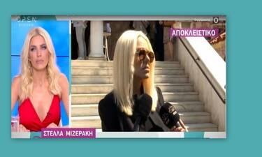 Συγκινημένη η Στέλλα Μιζεράκη στο μνημόσυνο του Πάνου Ζάρλα