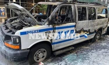Τζορτζ Φλόιντ: «Εμπόλεμη» ζώνη η Νέα Υόρκη – Μαρτυρία κατοίκου στο Newsbomb.gr (Pics)