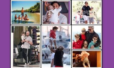 Γιορτή του πατέρα: Τρυφερές φωτό των διάσημων μπαμπάδων με τα παιδιά τους!