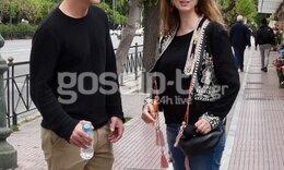 Σπάνια κοινή εμφάνιση για το ευτυχισμένο ζευγάρι ηθοποιών στη Γλυφάδα(Pics)