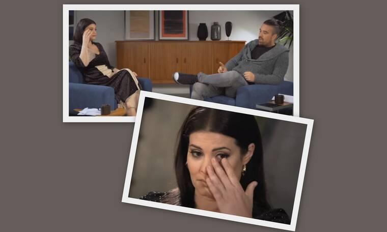 Μαρία Κορινθίου:Τα δάκρυά της μετά την αποκάλυψη του Γιάννη Αϊβάζη on air