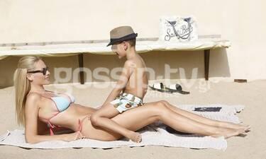 Νάταλι Θάνου: Οι τρυφερές στιγμές με τον γιο της στην παραλία! (Photos)