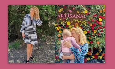 Τζένη Μπότση: Το πρώτο ταξίδι με την κούκλα κόρη της (Photos)