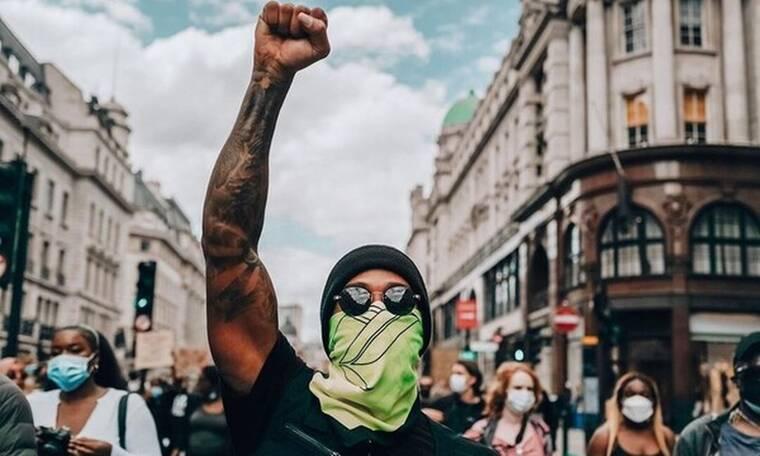 Σε διαδήλωση κατά του ρατσισμού ο Λιούις Χάμιλτον (pics)