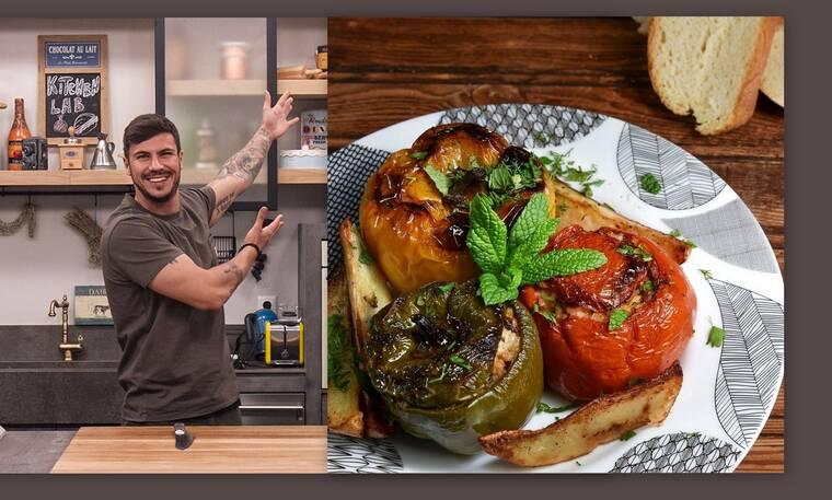 O Άκης Πετρετζίκης προτείνει την πιο νόστιμη συνταγή για γεμιστά με κιμά
