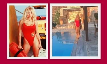 Ποια Pamela Anderson! Η Χριστίνα Παππά κόβει ανάσες με το κόκκινο μαγιό της