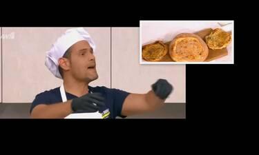 Ο Δημήτρης Ουγγαρέζος έδωσε την απόλυτη συνταγή για καρβελάκια γεμιστά!