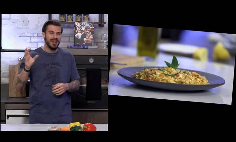 Ο Άκης Πετρετζίκης ετοιμάζει την πιο καλοκαιρινή και light συνταγή