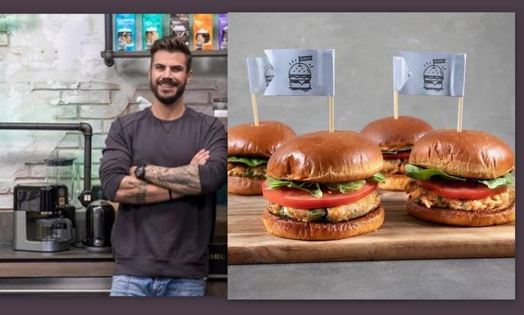 Ο Πετρετζίκης προτείνει ένα διαφορετικό burger σολομού