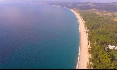 Η πιο μεγάλη παραλία με άμμο της Ευρώπης βρίσκεται στην Ελλάδα