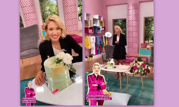 Βίκυ Καγιά: Γιόρτασε τα γενέθλιά της ξυπόλητη στο πλατό του Shopping Star!