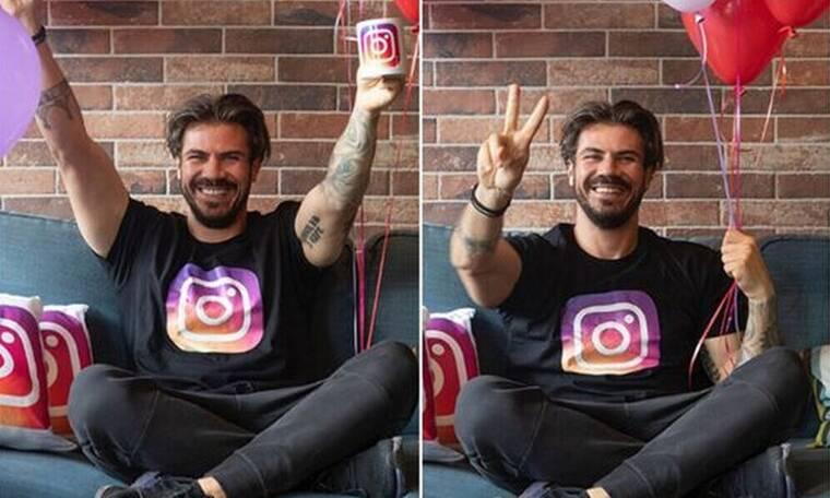 Άκης Πετρετζίκης: Έφτασε τους 1,5 εκατομμύριο followers στο Instagram και το γιορτάζει!