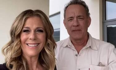 Tom Hanks-Rita Wilson: Με μάσκα και γάντια κατέφθασαν στην Πάρο