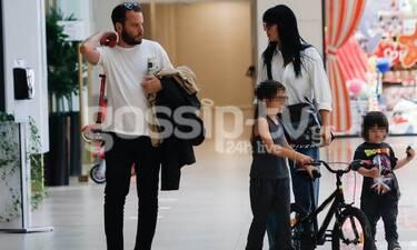 Η μαμά Ζενεβιέβ Μαζαρί σε βόλτα με τα παιδιά και τον σύζυγό της! (pics)