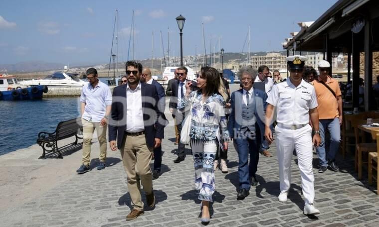 Η πρόεδρος της επιτροπής «Ελλάδα 2021» κας Γιάννας Αγγελοπούλου στην Κρήτη