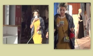 Κωνσταντίνα Σπυροπούλου:Βόλτα στα σοκάκια της Μυκόνου με την καλύτερη παρέα