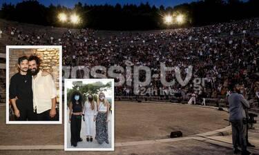 """Πλήθος επωνύμων στην Επίδαυρο - Ποιοι παρακολούθησαν τους """"Πέρσες"""" (Photos)"""