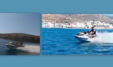 Άφησε τη Σκιάθο και πήγε στην Πάρο - Οι βόλτες με το jet ski