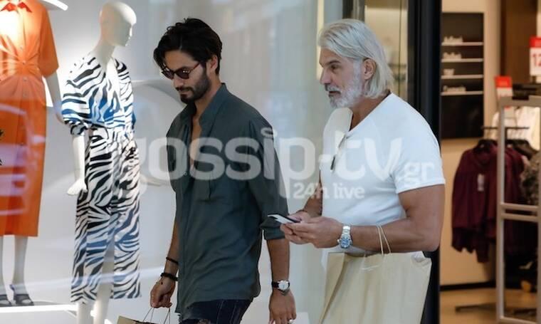Πίντζης - Καράβας: Πήγαν μαζί για ψώνια σε εμπορικό κέντρο (Photos)