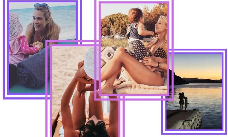 Πώς φωτογραφίζονται οι μαμάδες της showbiz στην παραλία μαζί με τα παιδιά