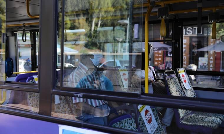 Ξάνθη: Γυναίκα σε λεωφορείο φορούσε τη μάσκα στα πόδια! (pic)